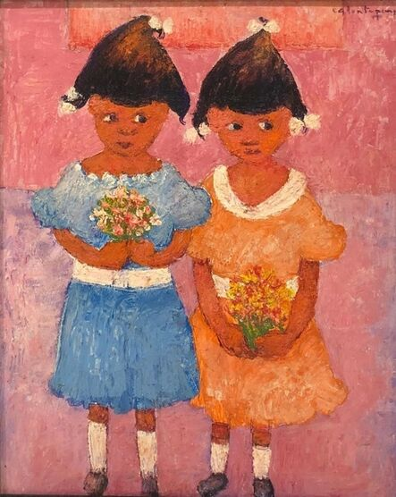 Calixte Henry, 'Two Little Girls', ca. 1998