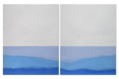 Susan Vecsey, 'Untitled (Blue Diptych)', 2014