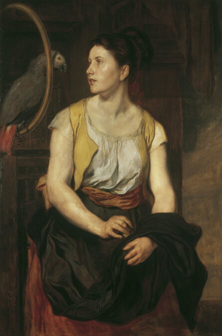 Hans Canon, 'Girl with Parrot', 1876
