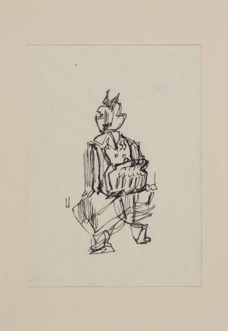 Siri Derkert, 'Spårvagnskonduktris, skiss till Kvinnopelaren', 1956-1958