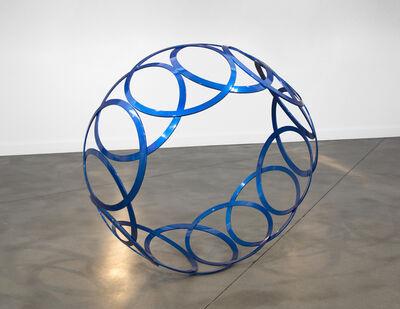 Shayne Dark, 'Circular Motion - large, bright blue, geometric abstract, coated steel sculpture', 2016