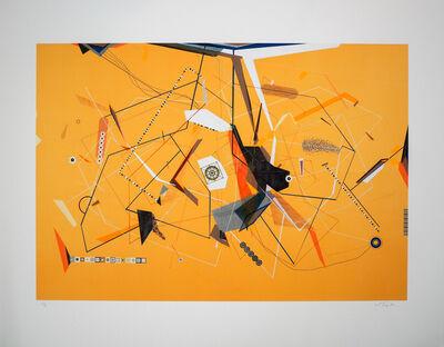 Dannielle Tegeder, 'Yellow Invisible Diagram Line Possibility with Escape Route', 1998