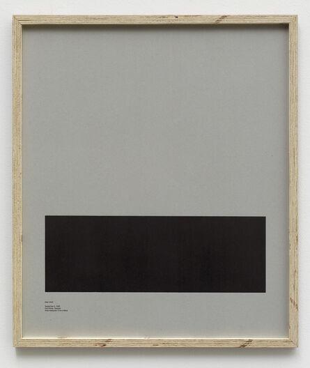 E.B. Itso, 'Loop Holes (Ioan Ursot, September 5. 1989, Hall anstalten, Sweden, hole measures 17 x 29 cm) ', 2014