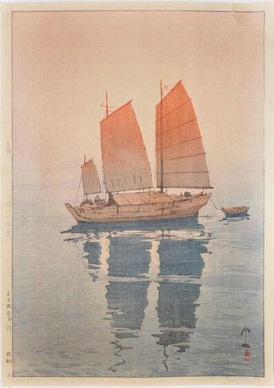 Yoshida Hiroshi, 'Sailing Boats - Morning', 1926