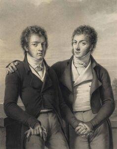 Louis-André-Gabriel Bouchet, 'Portrait of the twin brothers César and Constantin Faucher (1760-1815)'
