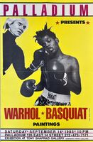 Jean-Michel Basquiat, 'Warhol Basquiat Boxing Poster (Warhol Basquiat The Palladium)', 1985
