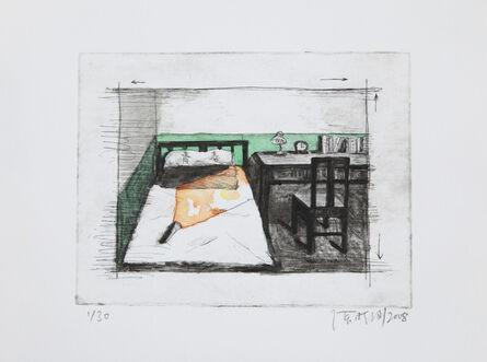 Zhang Xiaogang, 'Green Wall Series (a set of 7 etchings)', 2008