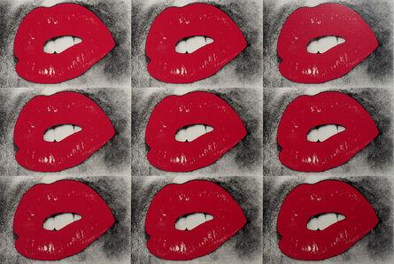 Daido Moriyama, 'Untitled, Lips 9 Times', 2019