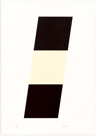 Ellsworth Kelly, 'Black/White/Black', 1971