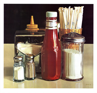 Ralph Goings, 'Still Life with Straws', 1978