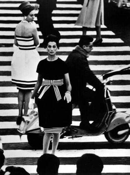 William Klein, 'Simone + Nina, Piazza di Spagna, Rome', 1960