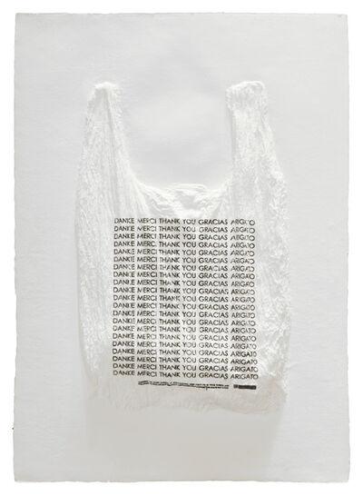 Analía Saban, 'DANKE MERCI THANK YOU GRACIAS ARIGATO Plastic Bag', 2016