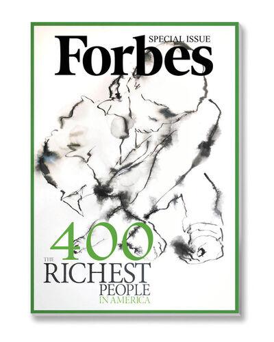 Yves Hayat, 'Encres sur presse - Forbes avec petit mendiant', 2017