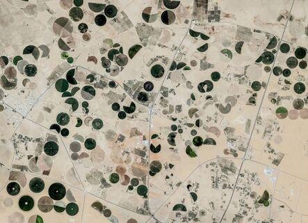 Edward Burtynsky, 'Satellite Capture, Near Buraydah, Saudi Arabia', 2018