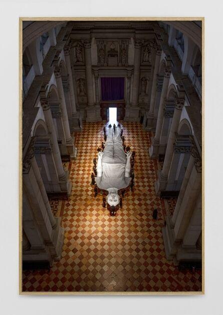 JR, 'Omelia Contadina, Basilica San Giorgio Maggiore, 7 septembre 2020, 19h33, Venise, Italie, 2020', 2020