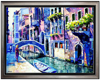 Howard Behrens, 'HOWARD BEHRENS Original OIL ON CANVAS Painting Signed Art Water LARGE 36x48', 20th Century