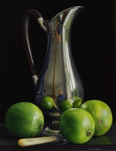 Jessica Brown, 'Still Life with Silver Art Nouveau Jug and Three Limes', 2018
