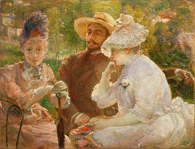 Marie Bracquemond, 'On the Terrace at Sèvres (Sur la terrasse à Sèvres)', 1880