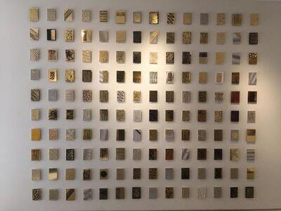 Monet Clark, '140 Gold Mine tiles Installation', 2017