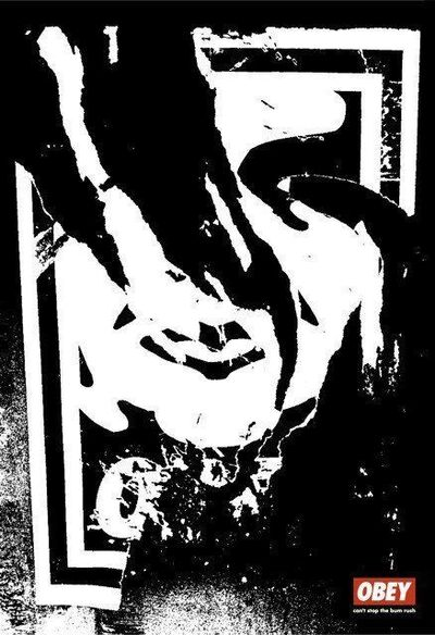 Shepard Fairey, 'Ripped Face Offset', 2001