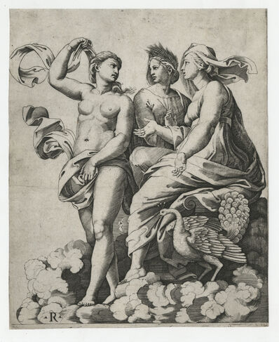 Marco Dente after Raphael, 'Juno, Ceres, and Psyche', Early 16th Century