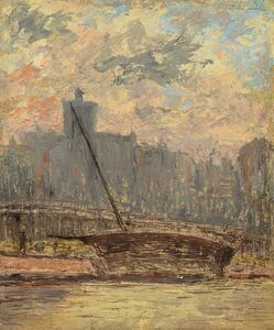 Arthur Clifton Goodwin, 'City View from the Harbor', 1902