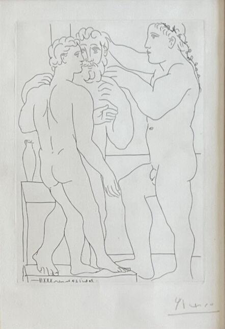 Pablo Picasso, 'Deux hommes sculptés, fromLa Suite Vollard', 1933