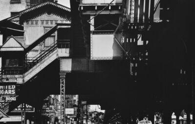 William Klein, 'El Station, New York', 1954-1955