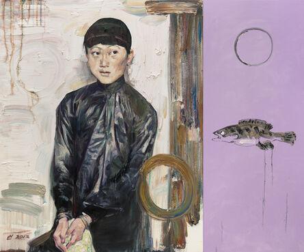 Hung Liu 刘虹, 'Spring with Cynical Fish', 2012