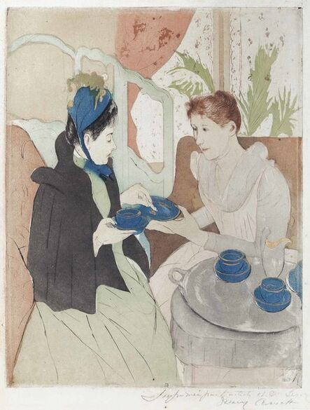 Mary Cassatt, 'Afternoon Tea Party', 1890-91