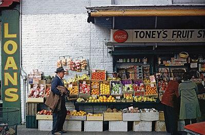 William Christenberry, 'Fruitstand, Sidewalk, Memphis, Tennessee', 1966