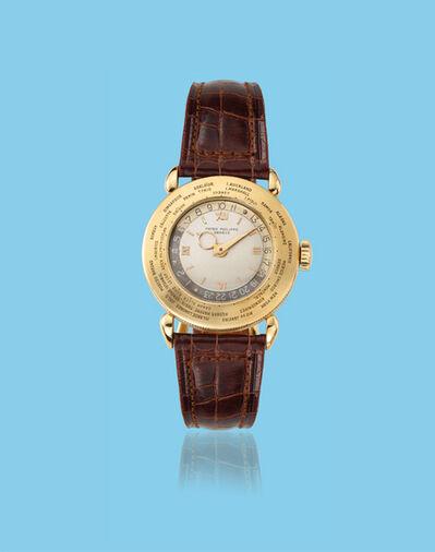 "Patek Philippe, 'Yellow gold ""World Time"" wristwatch, ref. 1415', ca. 1950"