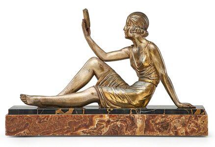 """Demetre Chiparus, 'Art Deco sculpture, """"The Reader (La Lectrice),"""" France', ca. 1925"""
