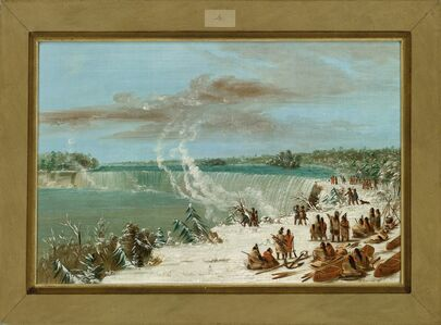 George Catlin, 'Portage Around the Falls of Niagara at Table Rock', 1847/1848