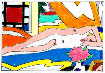 Tom Wesselmann, 'Study for Sunset Nude with Mondrian', 2003