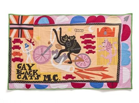 Grayson Perry, 'Gay Black Cats MC', 2017