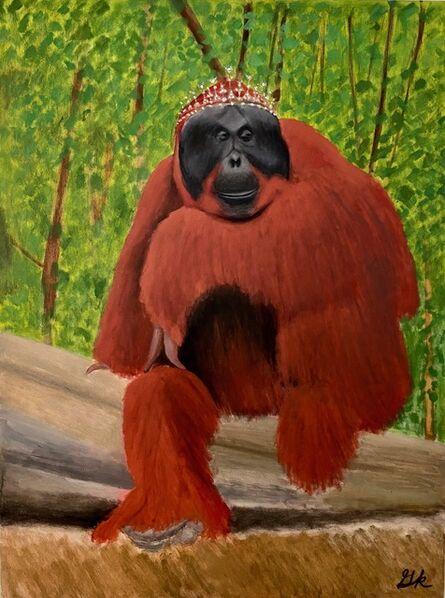 Gemma Kahng, 'Queen Orangutan with Diamond Tiara', 2020