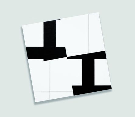 François Morellet, '2 trames (10°-100°) strip-teasing 4 fois n°4', 2008