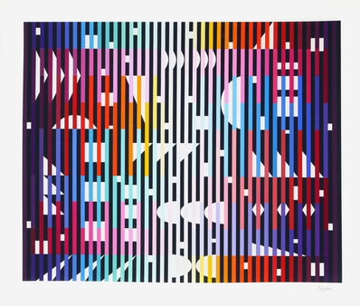 Yaacov Agam, 'Sparkling Night Rainbow', 1981