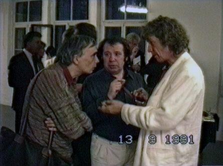 Vadim Zakharov, 'Andrei Monastyrsky, Viktor Pivovarov, and Ivan Chuikov at the opening of Viktor Pivovarov's solo exhibition at Krings-Ernst Galerie in Cologne, September 13, 1991', 1991
