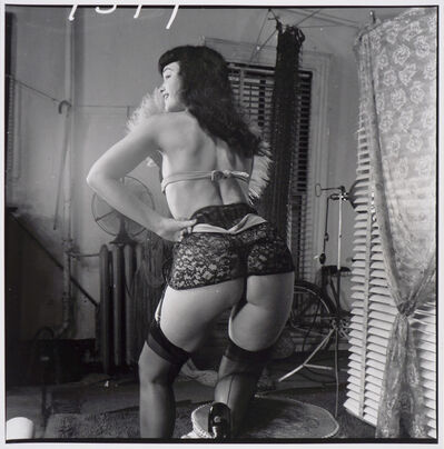 Weegee, 'Bettie Page (with lace garter belt, from behind)', ca. 1955/1980s