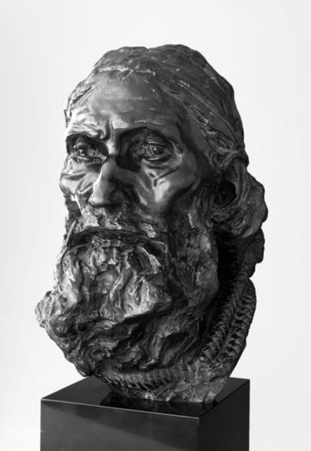 Auguste Rodin, 'Eustache de Saint-Pierre, Final Head, with Rope Around the Neck', 1886