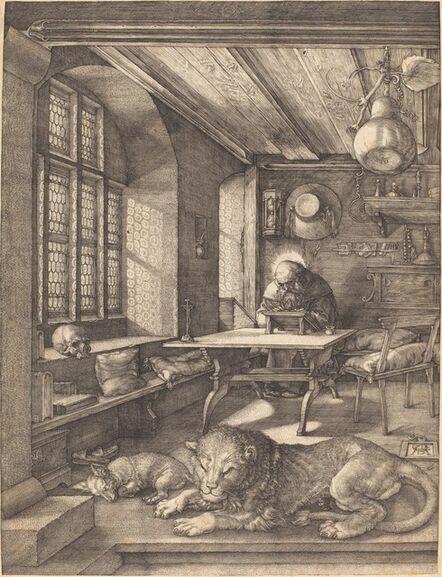 Albrecht Dürer, 'Saint Jerome in His Study', 1514
