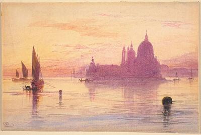 Edward Lear, 'Venetian Fantasy with Santa Maria della Salute and the Dogana on an Island'
