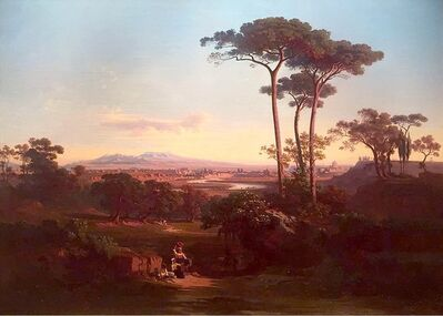 Johann Jakob Frey, 'View of Roma from Monte Mario'