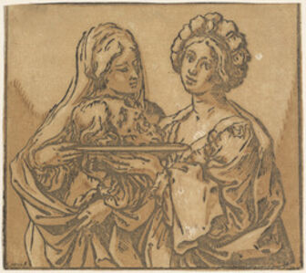Bartolomeo Coriolano after Guido Reni, 'Herodias and Salome', 1631