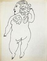 Andy Warhol, 'Cherub', ca. 1954