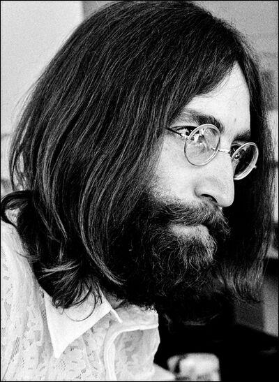 Luiz Garrido, 'John Lennon at Apple Records' office in Savile Row, London', 1969