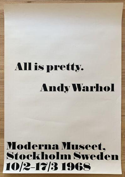 Andy Warhol, 'Original 1968 Silkscreen Exhibition Poster ', 1968