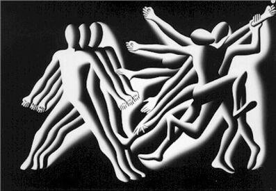Mark Kostabi, 'Conservatives and Liberals', ca. 1980